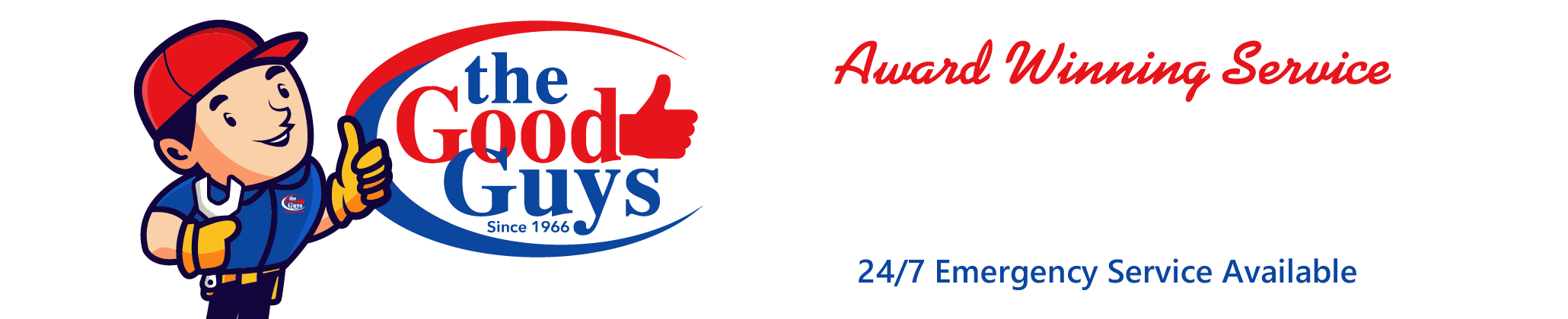 The Good Guys Heating and Cooling -- 920-734-1436, Hours: 8AM to 4:30PM, 24/7 Emergency Service.