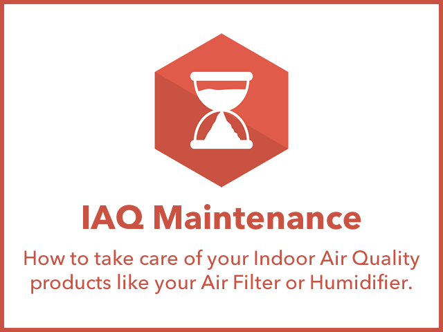 IAQ Maintenance: how to take care of your Indoor Air Quality products like your air filter or humidifier