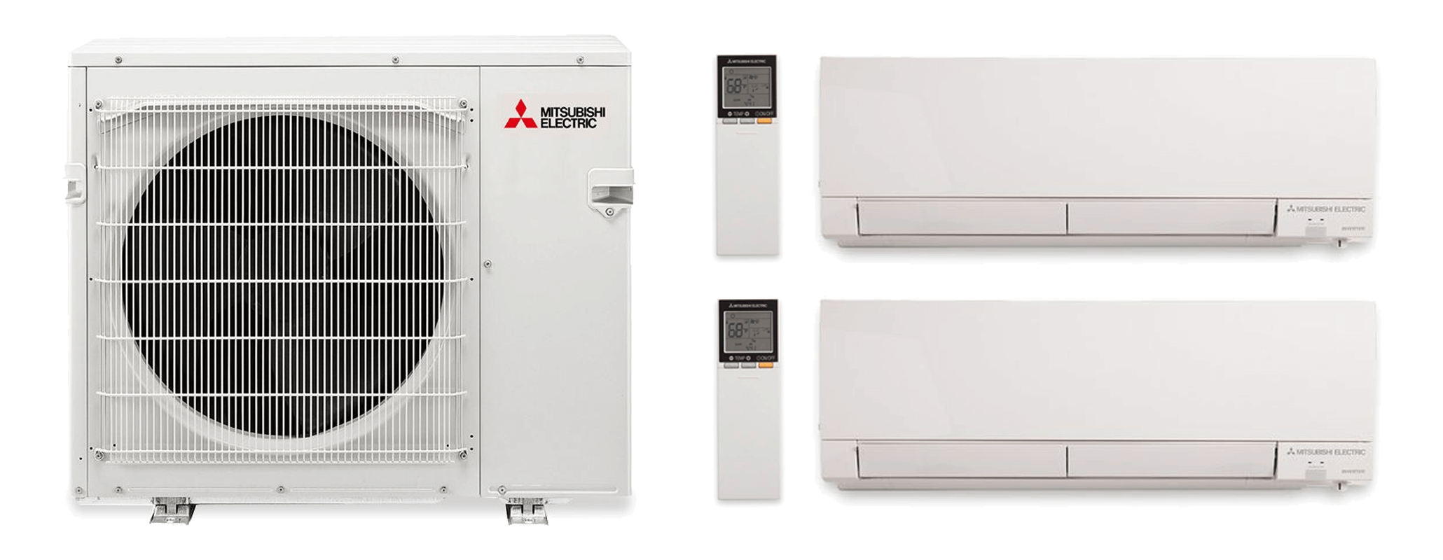 Mitsubishi Split Ductless Air Conditioner Heat Pump 2-in-1